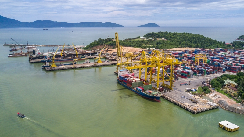 Aerial view of Danang Port